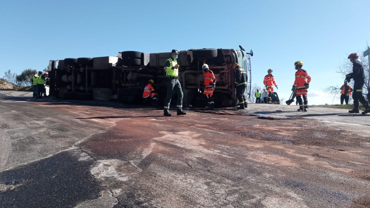 Accidente de camión que transportaba cerdos en Maceda.Miembros de la asociación Derecho a Morir Dignamente se concentran en la Puerta del Sol a favor de la aprobación de la ley de eutanasia en el Congreso