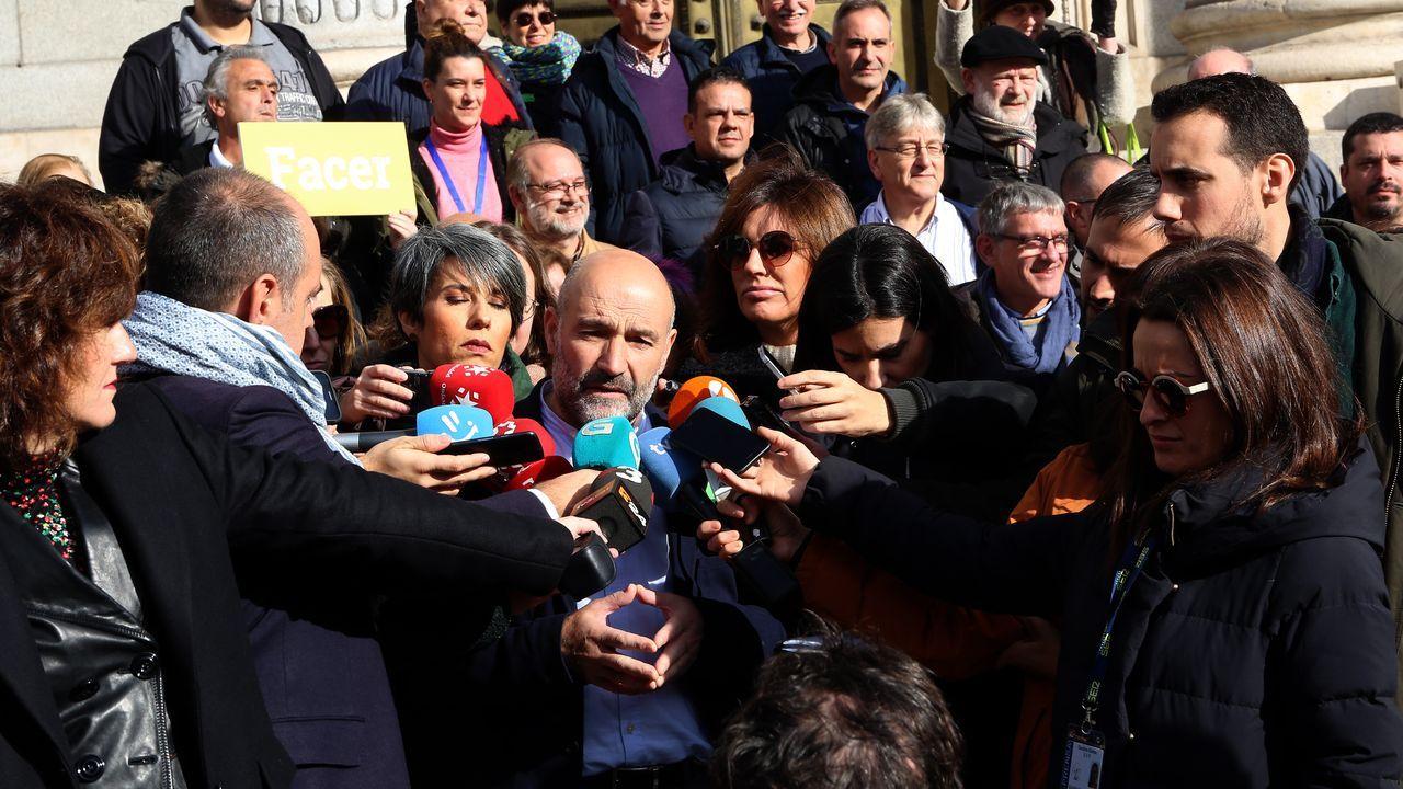 Galiza en Marcha, lema de campaña do BNG.Galicia fue una de las comunidades que dio mayoritariamente el sí a Pedro Sánchez