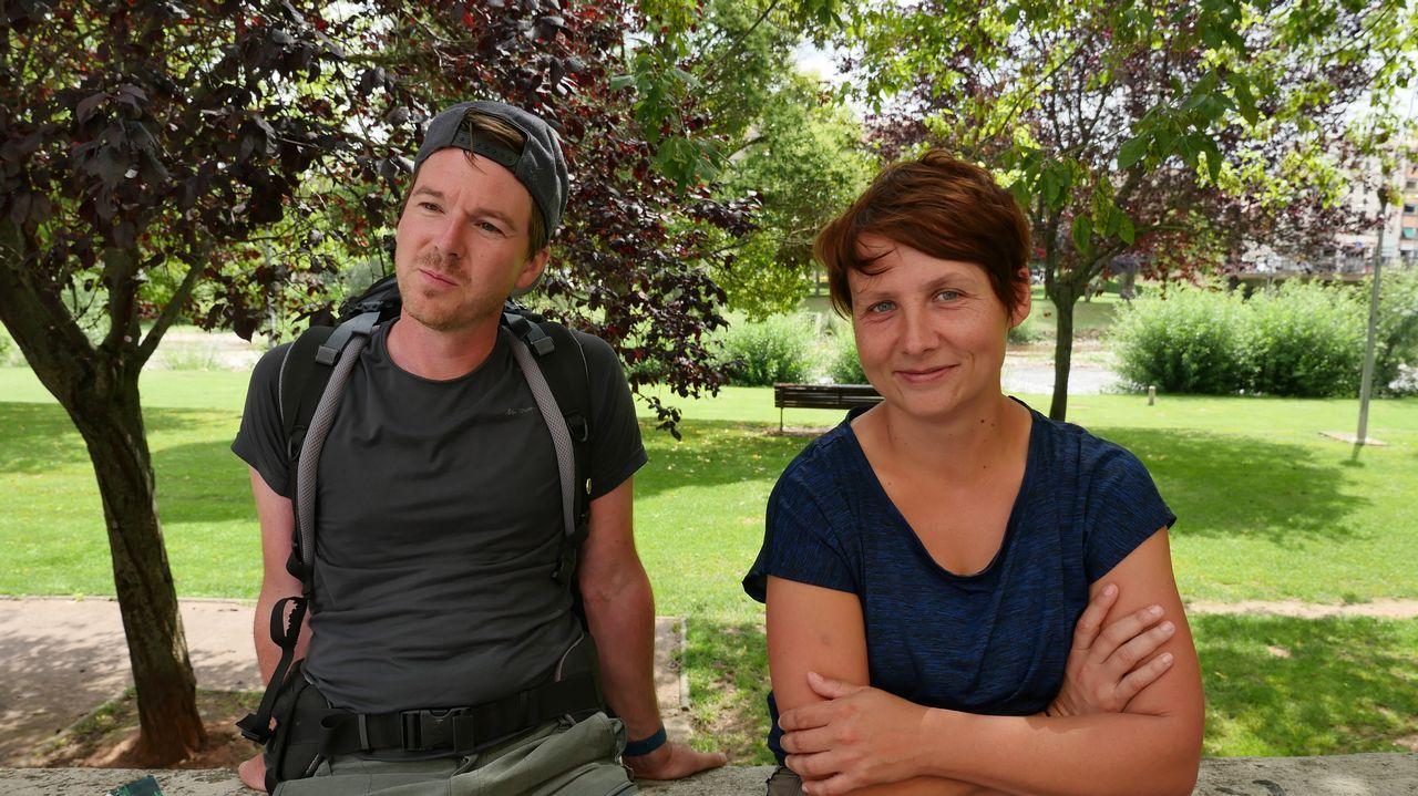 Denis y Jessica. Peregrinos en Nájera