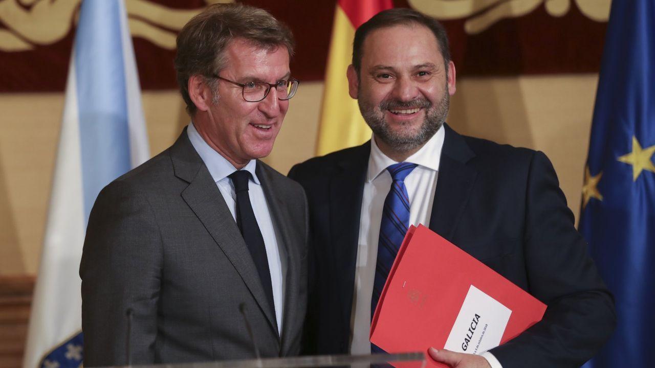 Feijoo y Ábalos, en un encuentro que tuvieron en noviembre del 2019