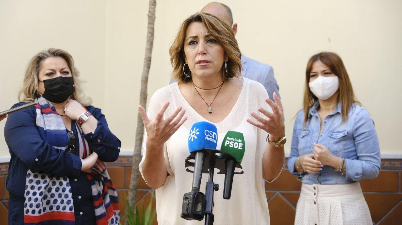 Susana Díaz, el viernes en Gilena (Sevilla)