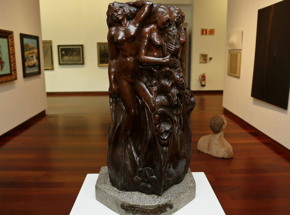 En la muestra hay obras de Colmeiro, Lugrís, Arturo Souto, Maside, etcétera