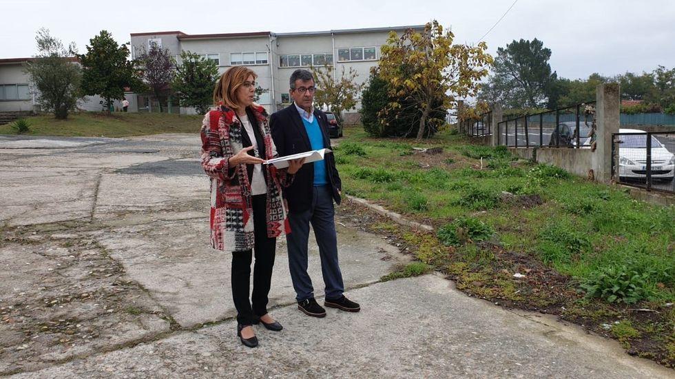 Guitián y Arias visitaron este viernes el lugar en el que se emplazarán las viviendas