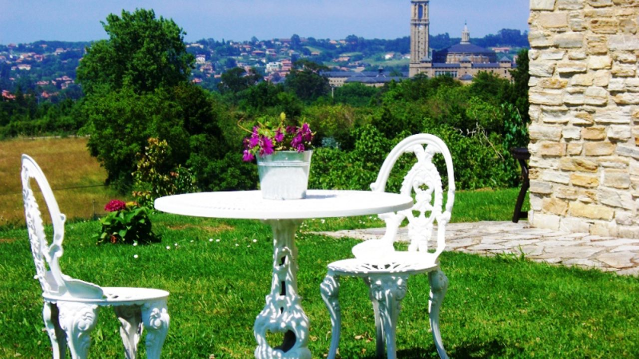 Vistas desde la terraza de la Casona de Cefontes