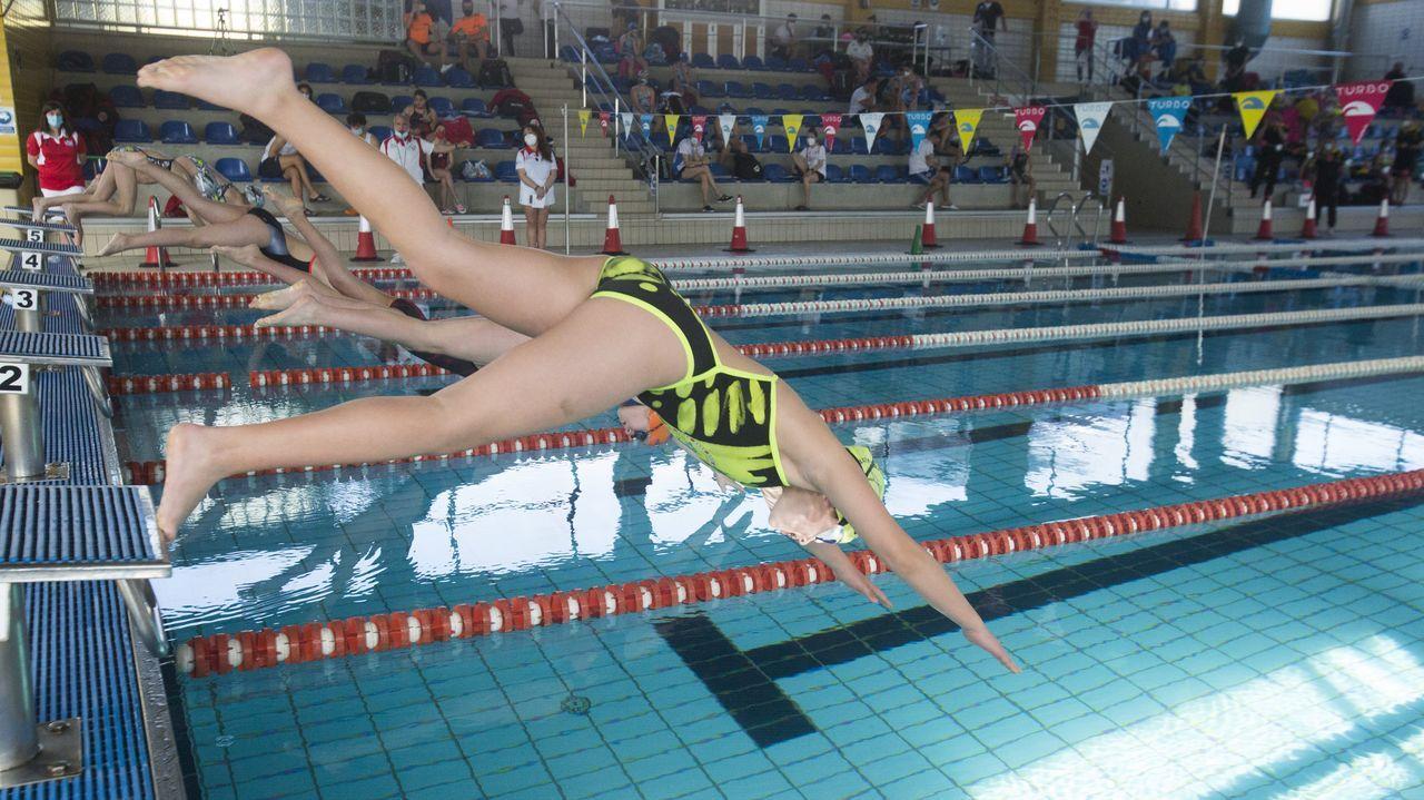 Así es la nueva imagen de la piscina de Baltar.Esta imagen, camino de las Sisargas, no se repetirá