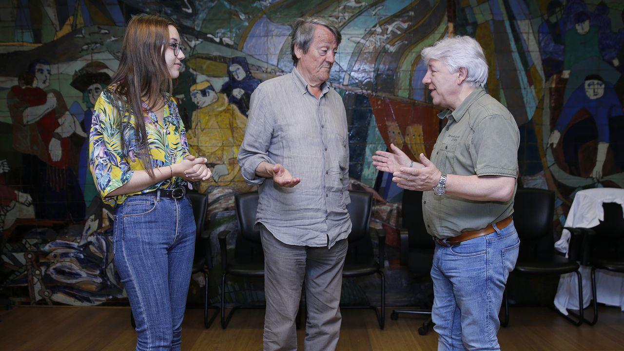 Airela Iglesias de Santiago, Antón de Santiago y Modesto Gómez