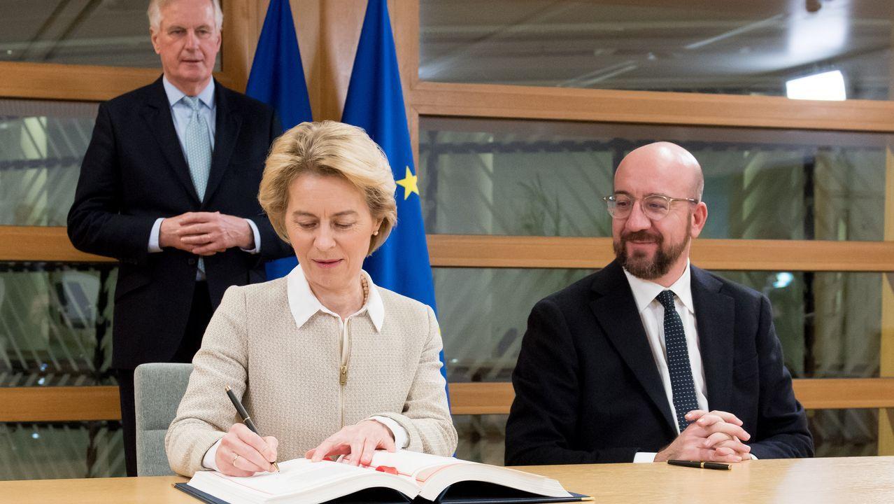 Ursula von der Leyen y Charles Michel firmaron el acuerdo del «brexit» antes de remitirlo a Londres