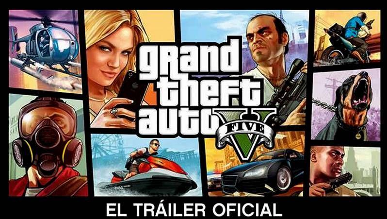 GTA V: el tráiler de uno de los juegos más esperados del año.Mando de la PlayStation 4