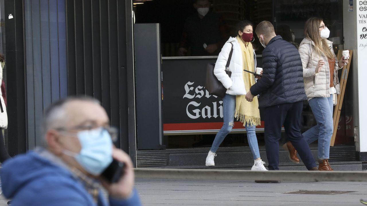 Jornada de protestas de la hostelería gallega.El sector hostelero ansía comenzar con la desescalada gradual esta misma semana