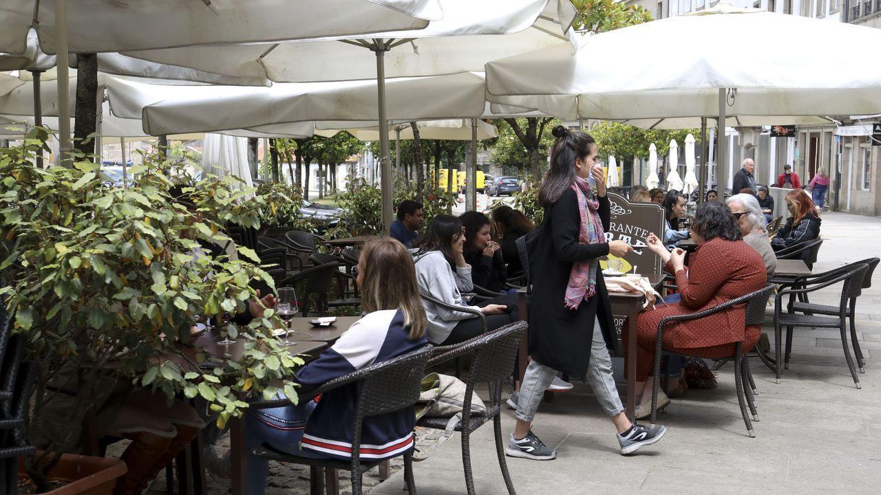 Más afluencia en las terrazas en Santiago