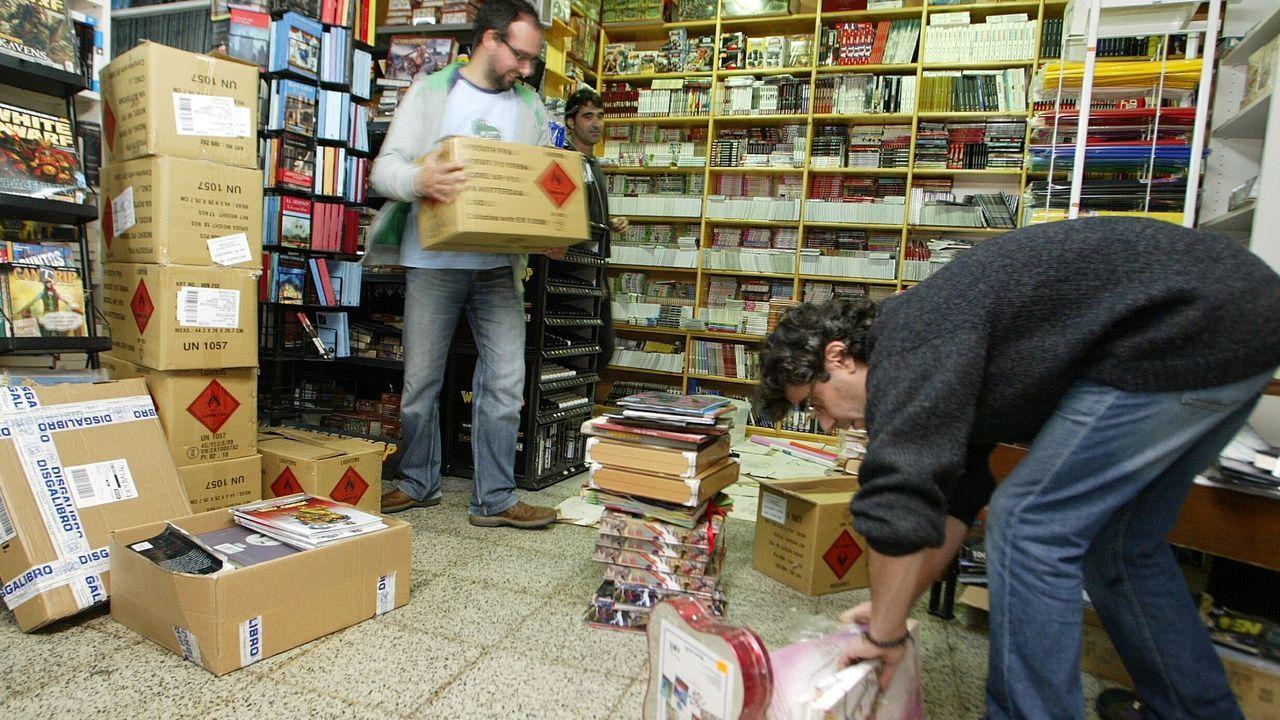 Inundación de la Librería Paz en noviembre del 2009