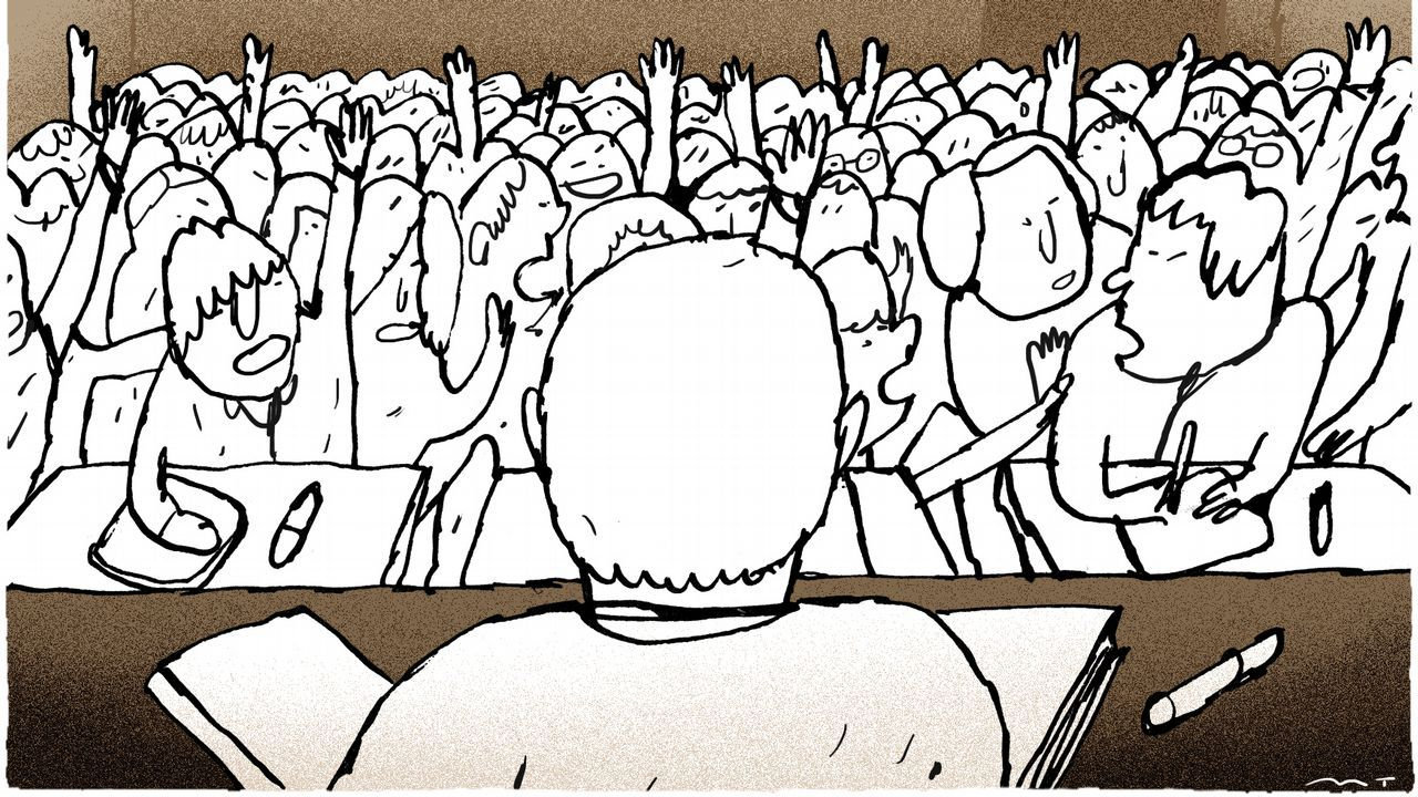 Manifestación ante el conservatorio de música del Principado.El president Quim Torra en una escuela infantil el primer día de curso