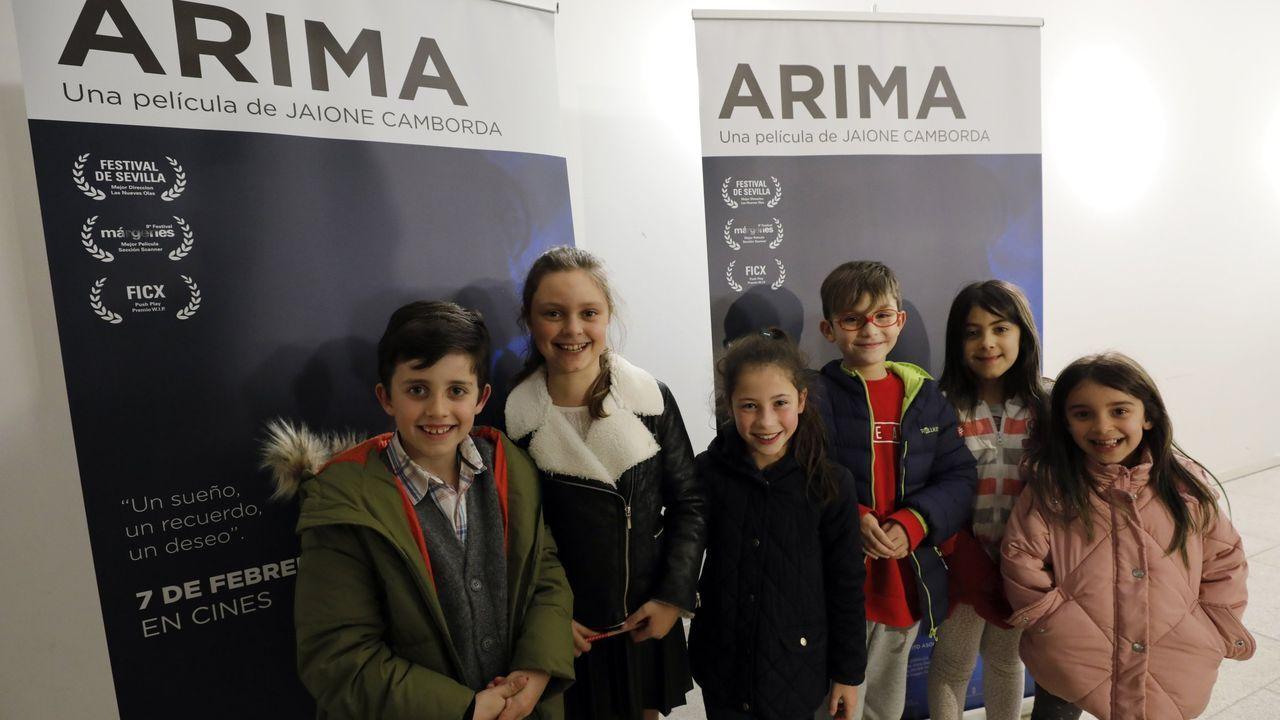 Foto de archivo de la presentación de la película  Arima  en Mondoñedo