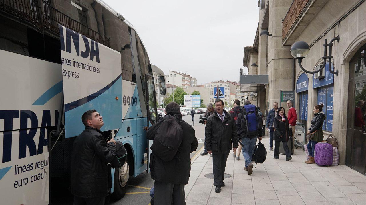 Obras en el trazado ferroviario urbano de Ourense durante el anterior corte de la circulación