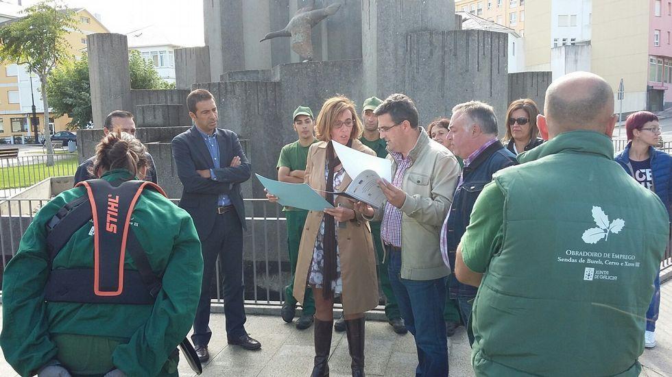 Pardeiro, en el centro, durante una sesión de pretemporada.