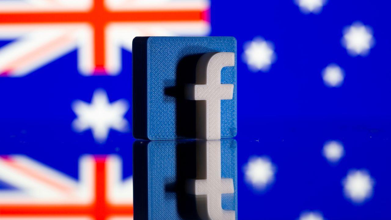 El logo de Facebook sobre una bandera australiana