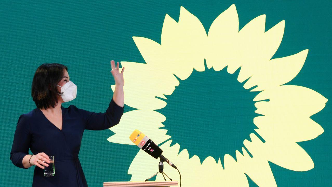 Annalena Baerbock, de 40 años, es  copresidente del partido los Verdes