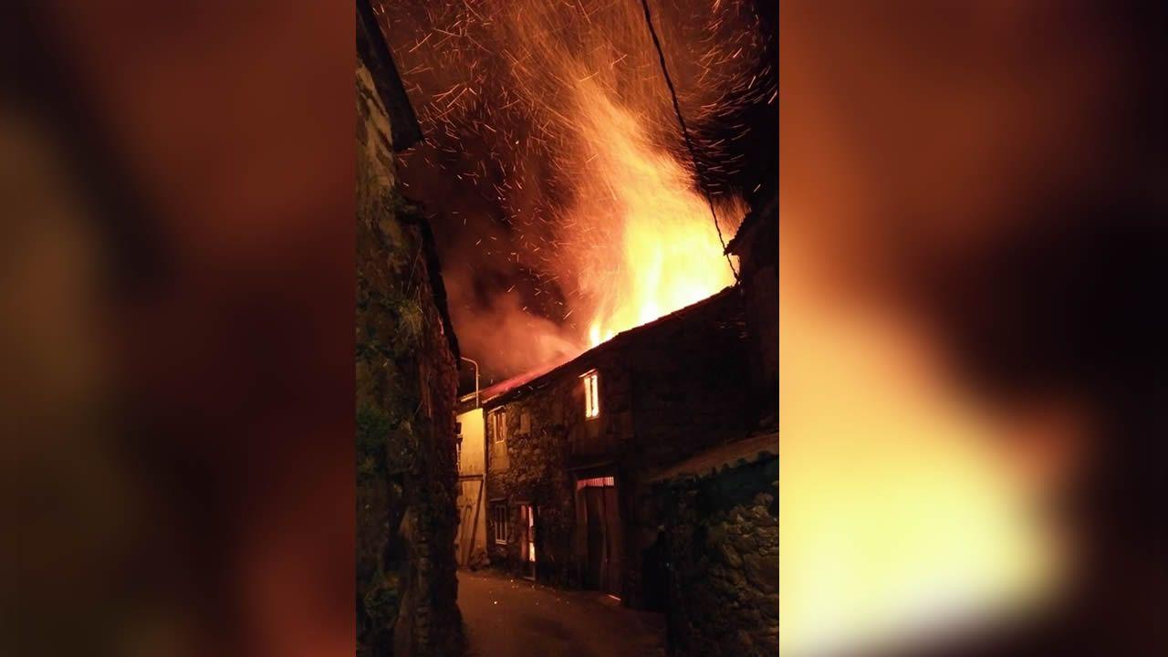 Incendio forestal en Ibias.Alumnos del colegio Salesianos plantan árboles en Chandebrito