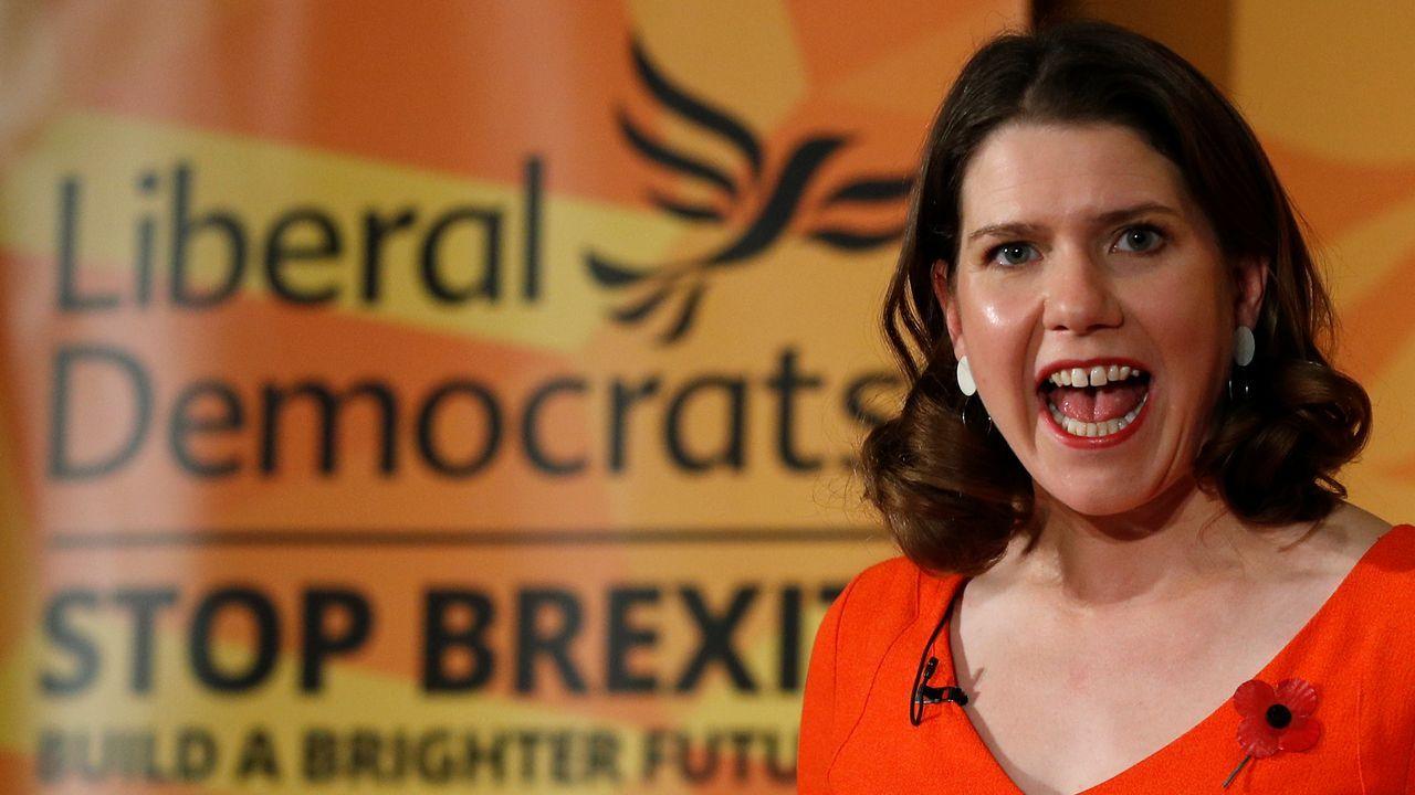 Jo Swinson presentó ayer la campaña de los liberaldemócratas