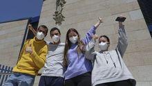 Regresan a Galicia los cuatro estudiantes atrapados en Chile: «Llegamos a pensar que no podríamos volver»