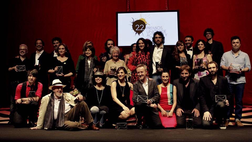 XXII Premios de la Unión de Actores y Actrices.Los activistas de la Plataforma de Afectados por Hipotecas (PAH), tras presentar el escrito para que los jueces de Vigo se acojan a la objeción de conciencia