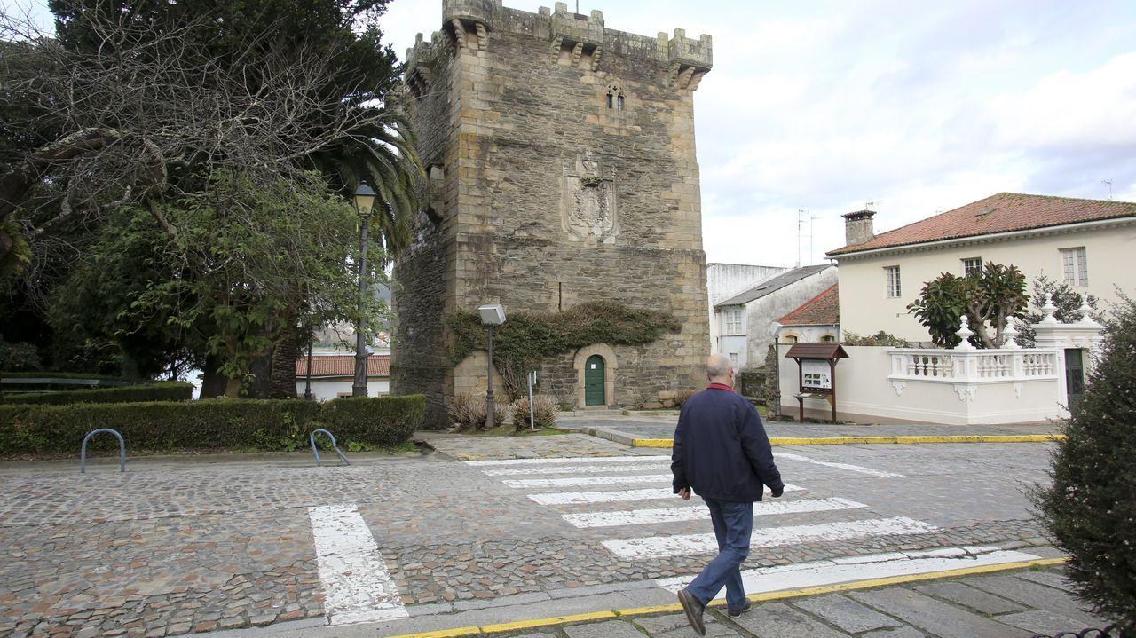 Los Maios de Ourense, en imágenes.El Torreón dos Andrade es uno de los puntos donde se puede acceder a la aplicación de realidad aumentada que recrea el Pontedeume medieval