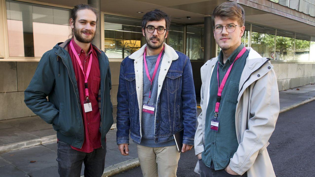 En la imagen, Iago Iglesias, Alejandro Pico y Roberto Regos, tres de los cinco socios que comandan ITFAB