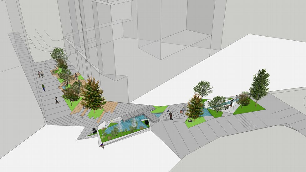 Así quedará el entorno de la Plaza Galicia tras su remodelación