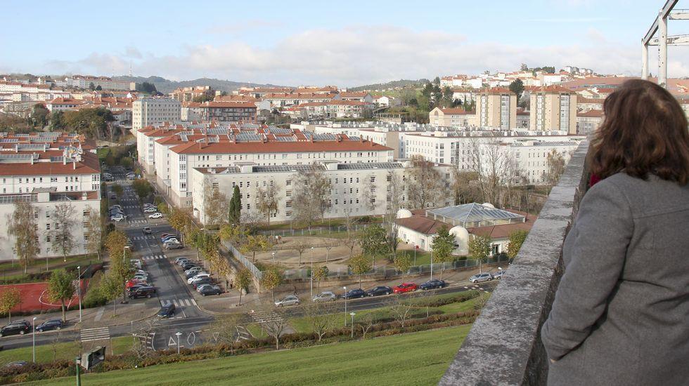 Fontiñas desde el Mirador del parque Carlomagno.