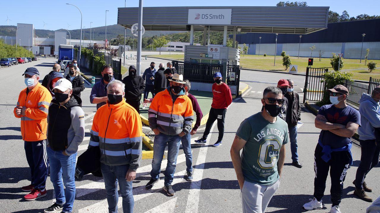 Protesta de los trabajadores este viernes
