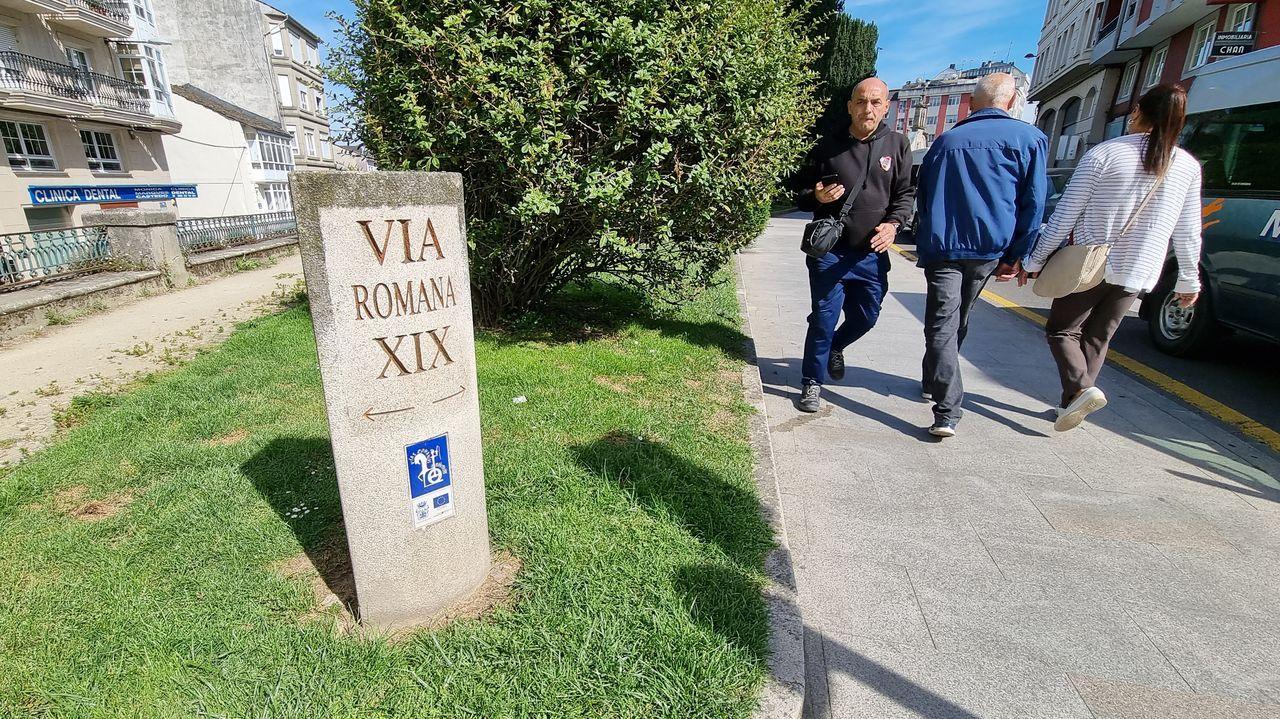 Un miliario colocado en San Roque recoge el paso de una vía romana por la zona