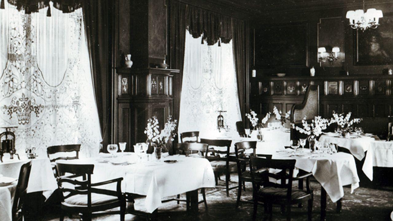 Interior del lujoso restaurante Horcher de Madrid, muy cerca del despacho del espía Karl Arnold. En este local se reunían a menudo los nazis residentes en España