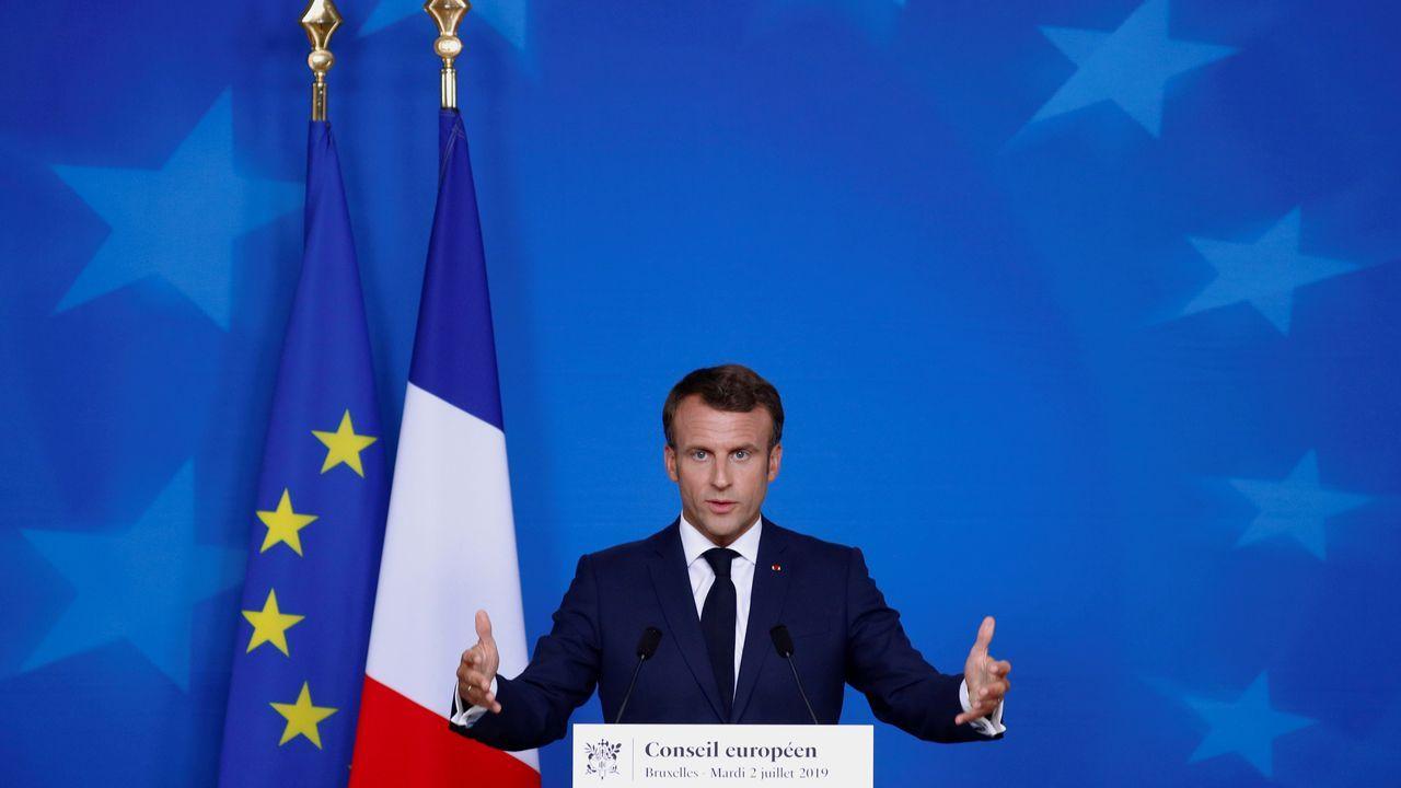 El presidente de Francia, Emanuelle Macron.