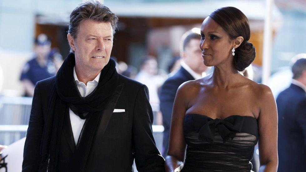 David Bowie estuvo casado dos veces, la segunda con la modelo Iman.