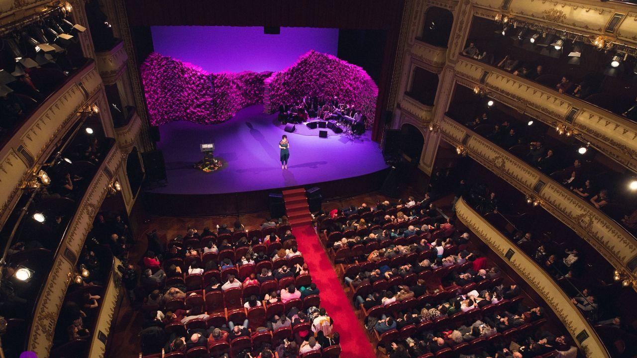 Detalle da gala dos premios María Casares, nunha foto de arquivo