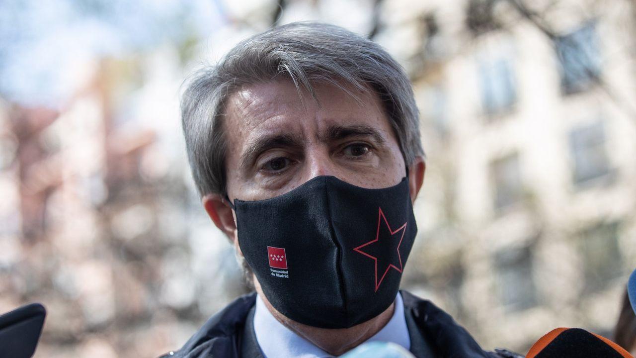 Ángel Garrido, en una imagen del 11 de marzo, después de haber sido cesado como consejero por Ayuso