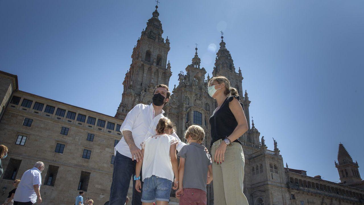 Casado y su familia visitan el Obradoiro y la Catedral de Santiago.El presidente del Gobierno, Pedro Sánchez, en una entrevista en el programa Morning Joe, del canal MSNBC, este miércoles durante su visita a Nueva York