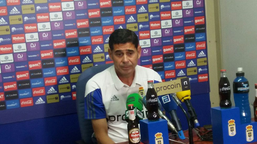 Fernando Hierro en la rueda de prensa de esta mañana