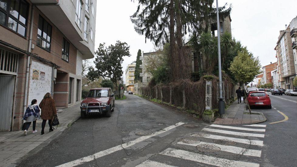 El lugar en el que estaban aparcados los vehículos, a la izquierda, en una imagen de archivo