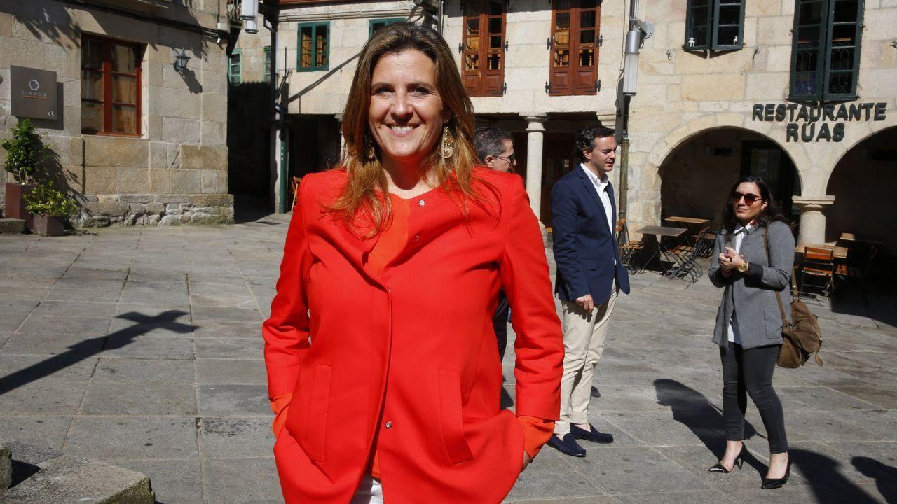 La consejera de Hacienda y la alcaldesa, durante su visita al nuevo edificio administrativo del Principado en Gijón