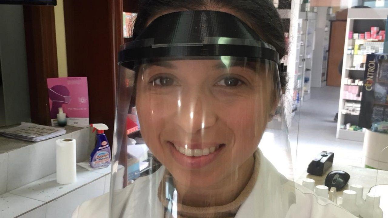 Cristina, farmacéutica de Oza de los Ríos