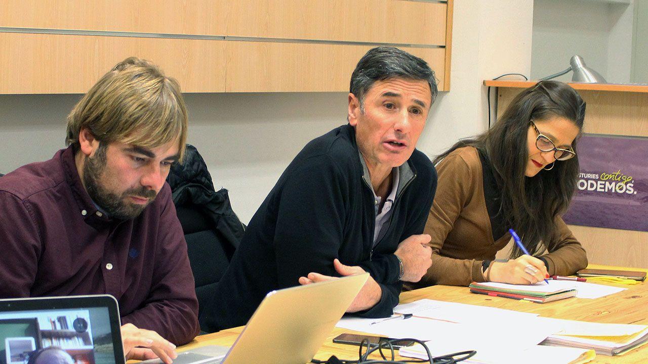 Daniel Ripa, Enrique López y Gadea Rosete, en el Consejo Ciudadano de Podemos