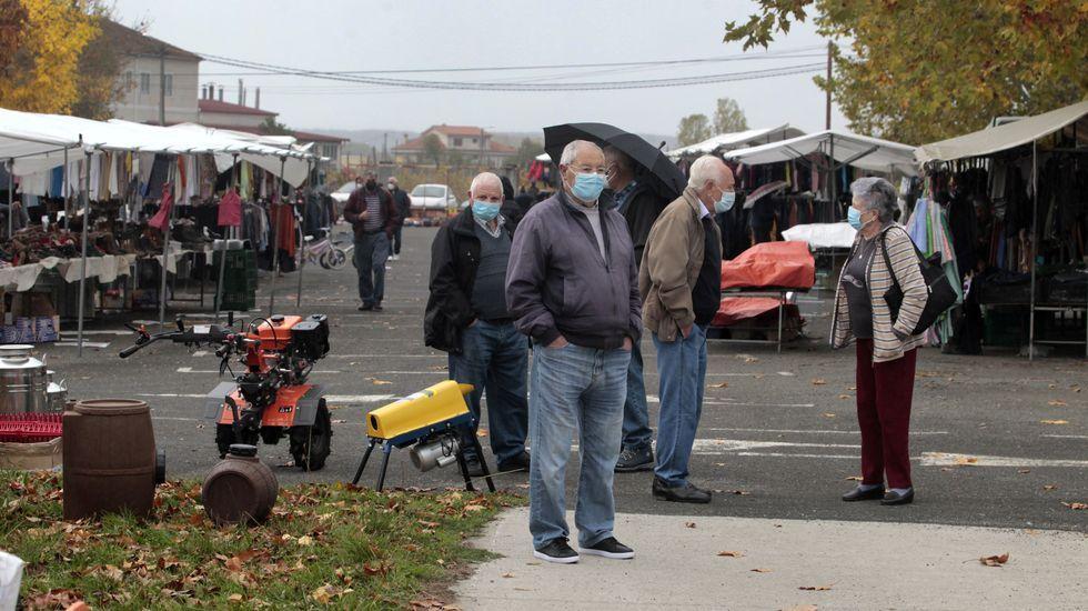 ¿Cómo podrá salir reforzado de la pandemia el sector del vino en Galicia?.Asistentes a la feria del pasado día 24 en Monforte, que se celebro con más separación entre puestos
