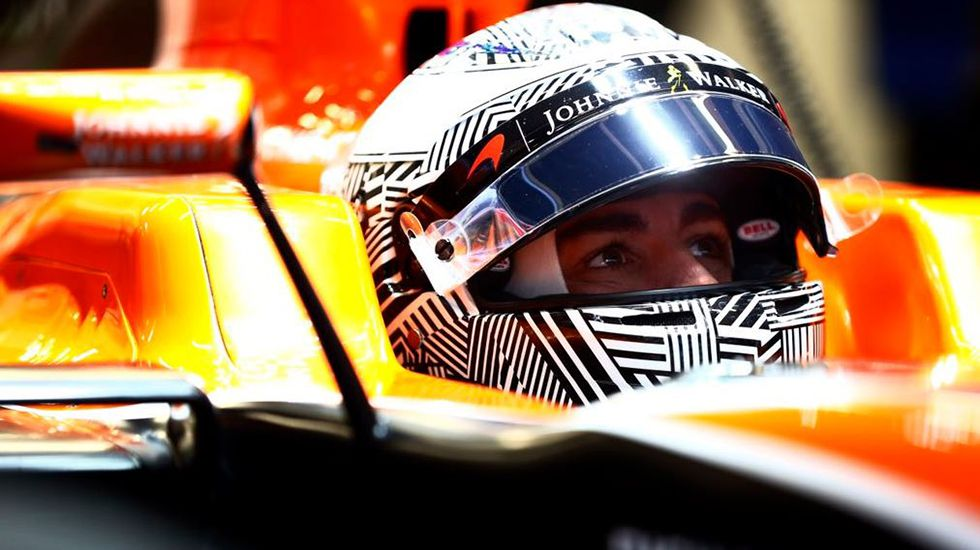 Fernando Alonso en su McLaren