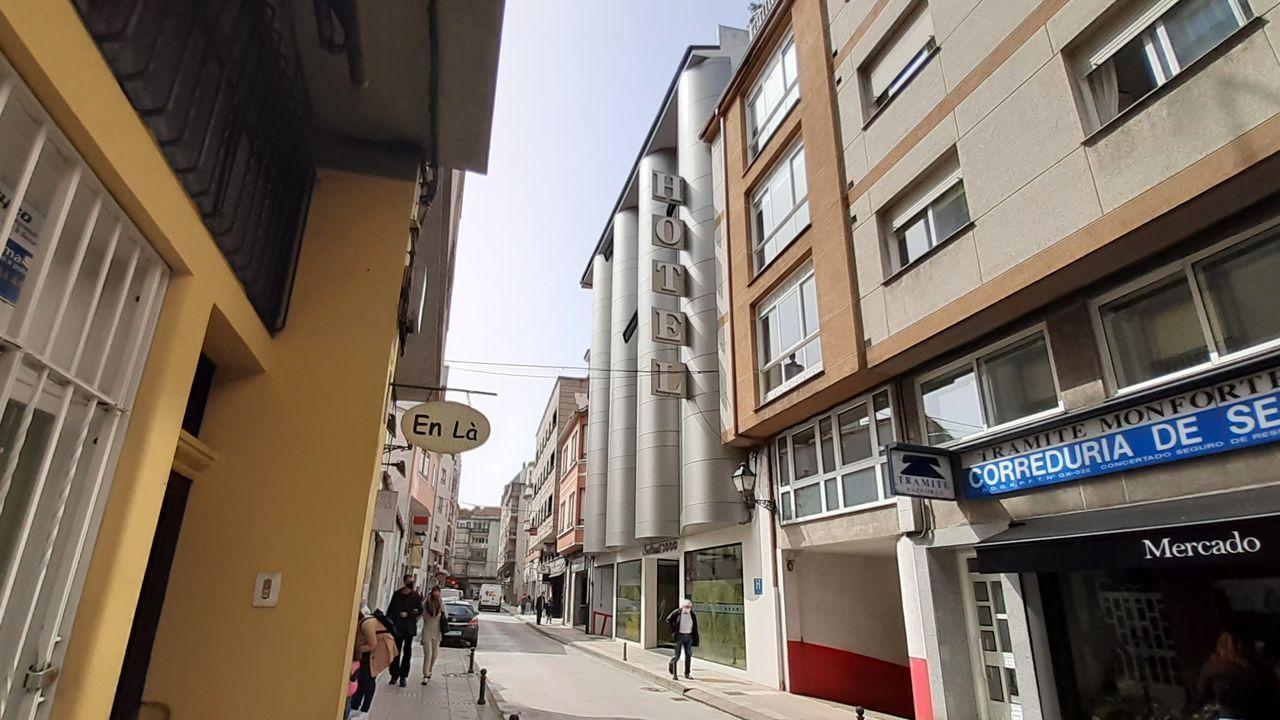 Exterior del hotel Cardenal, uno de los seis con que cuenta actualmente Monforte