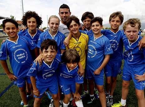 Varios de los alumnos de Pablo Coira en Dubai disfrutaron de su campus en Vilagarcía.