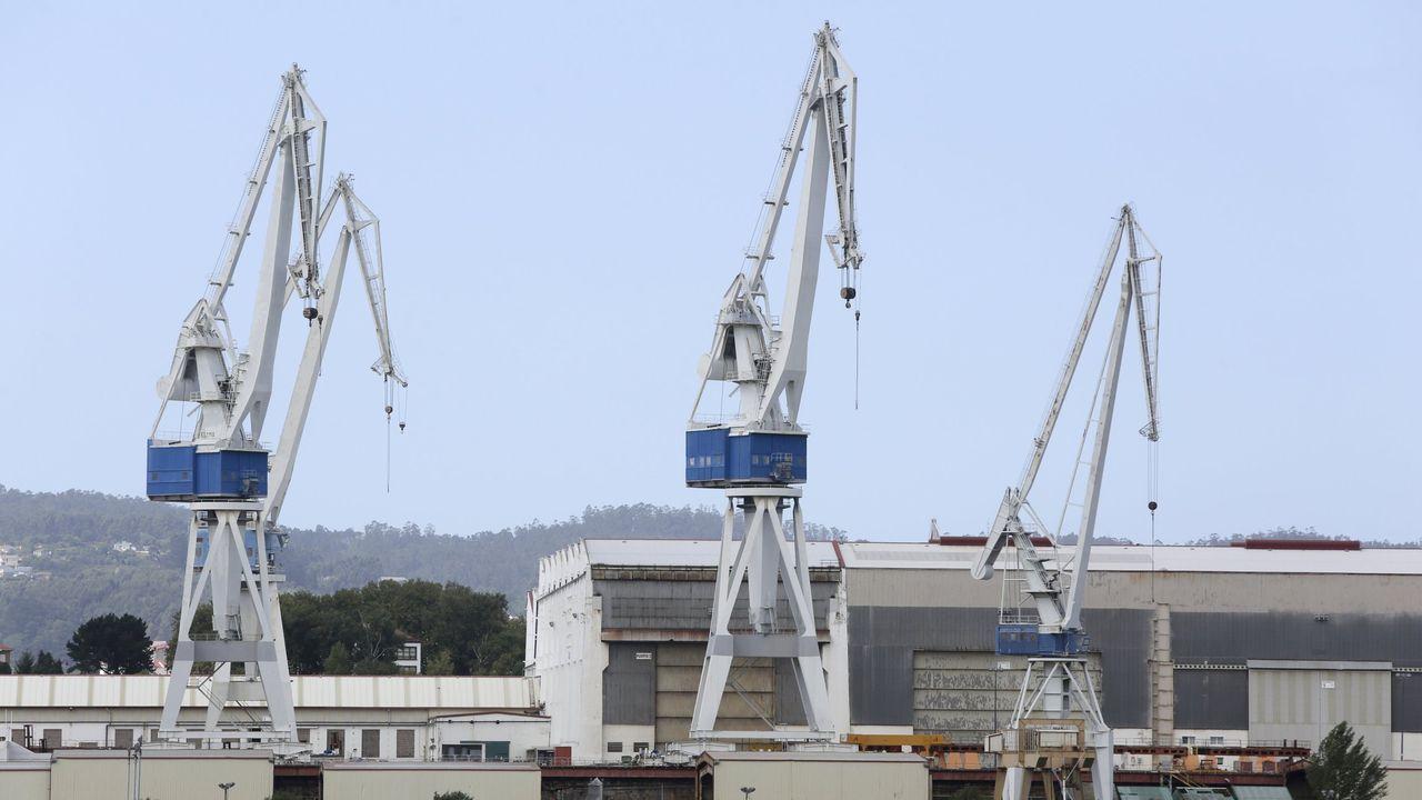 Vista parcial de las instalaciones del astillero Navantia de Ferrol