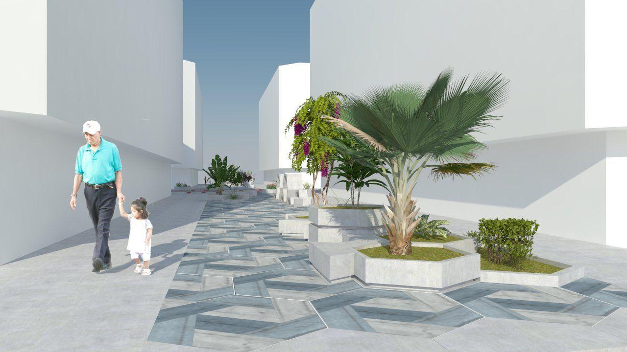 Recreación de la imagen que ofrecerá la plaza cuando concluyan las obras