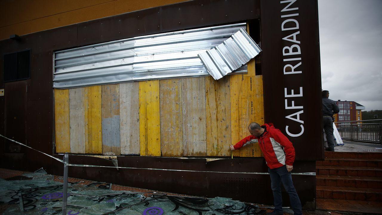 EFECTOS DEL TEMPORAL ANA: CAFÉ RIBADIN DE CAMBRE