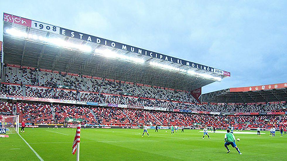 El Molinón.Estadio municipal El Molinón.